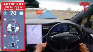 Tesla Autopilot vs M4 Motorway / Highway - How Good Is Auto Lane Change, Auto Steer & TACC?