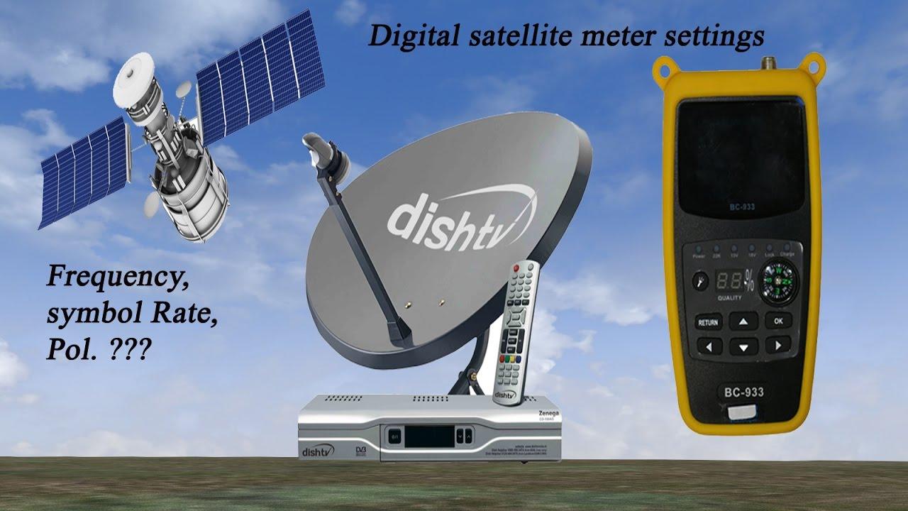 DIGITAL SATELLITE METER SETTINGS FOR DISH TV