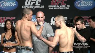 UFC 129: Nate Diaz vs Rory MacDonald: Weigh-In + Face-Off