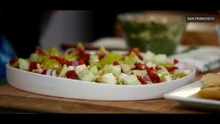 Mediterranean Layered Dip Recipe | Easy Appetizers | Popsugar Food