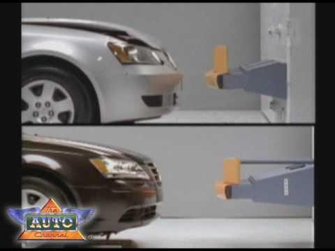 Crash Test Results for Sedan Bumpers