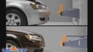 Crash Test Results for Sedan Bumpers