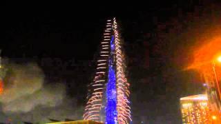 UAE 2016 Fireworks Burj Khalifa