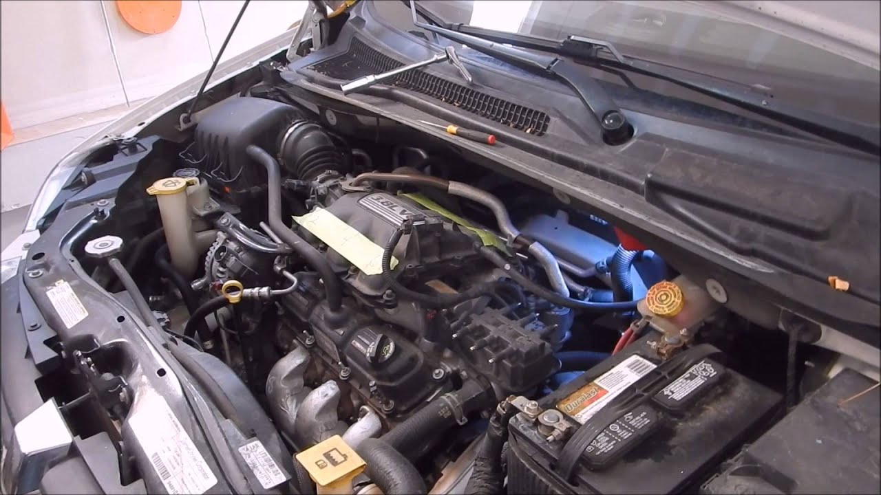 maxresdefault how to replace plugs and wire on 3 8l caravan t&c youtube 2006 dodge caravan engine wiring harness at mifinder.co