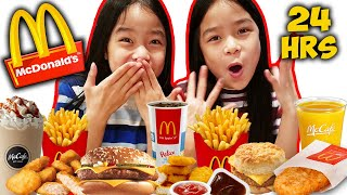 We ONLY ate McDONALDS food for 24 HOURS Challenge! | Tran Twins