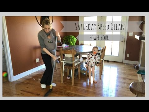 Saturday Speed Clean | Power hour | Stay At Home Mom of Three