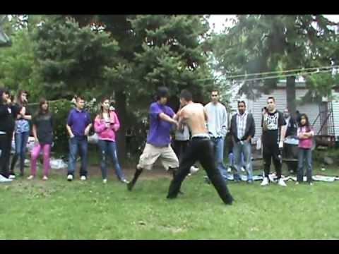 BackYard MMA Fight Part 1 - YouTube