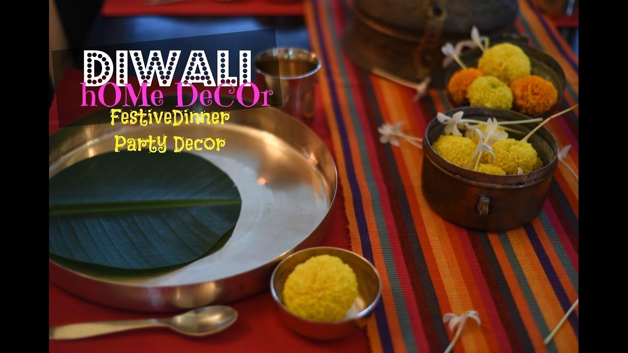 sc 1 st  YouTube & DIY Diwali Home Decor : Diwali Dinner Table Setting - YouTube