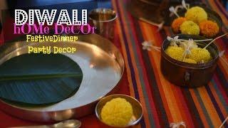Diy Diwali Home Decor Diwali Dinner Table Setting Youtube
