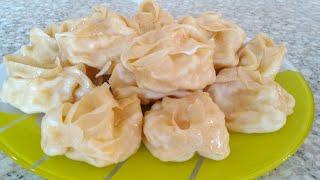 Настоящий узбекский манты , манты из тыквы , вкусный сочный