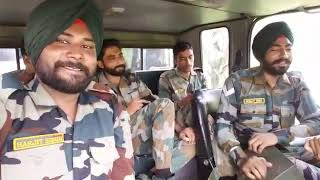 Indian Army Fauji Veer Singing a Lovely Punjabi Song from phone