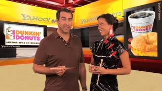 "Comedian Rob Riggle encounters ""Chinese Take-Out"" on the Yahoo Sports Minute w/ Angela Sun"