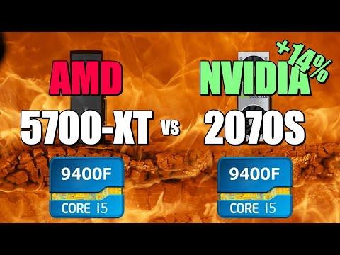 5700-XT vs 2070S - 9400F - TOP 5 GAMES - UserBenchmark