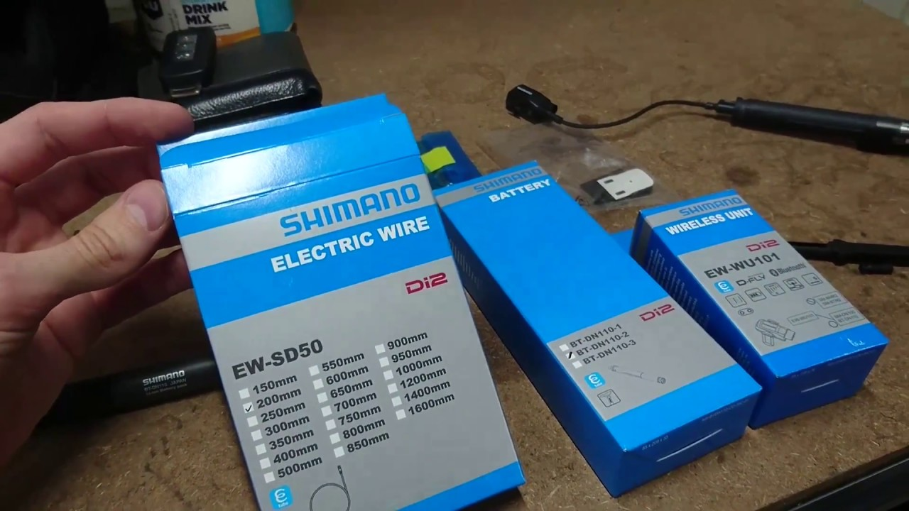 New Shimano Di2 EW-WU101 D-Fly ANT+Bluetooth Wireless Unit+250mm Electric wire