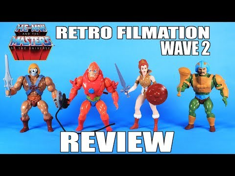 Masters of the Universe Super7 Retro Filmation Figures Wave 2 Review