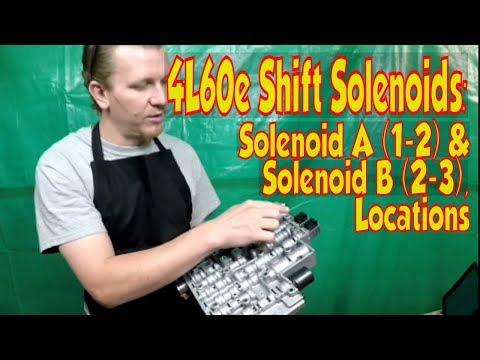 4L60E 4L65E Transmission 1-2 2-3 A & B Shift Solenoid Locations. 93-up