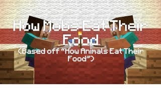How Animals Eat Their Food (Minecraft Animation Parody)