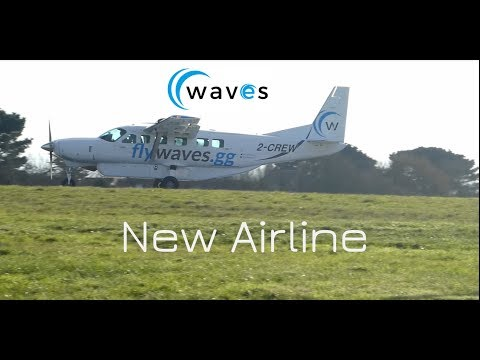 New Airline - Waves 2-CREW Cessna 208 Caravan takeoff from Guernsey Airport