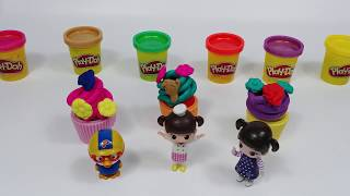 PlyDoh Topping Cupcake and Pororo Kognsuni Doll Egg Toy