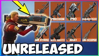 'NEW' 8 LEAKED WEAPONS Avec GAMEPLAY À Fortnite! (Fortnite Battle Royale) Fuite Guns Saison 4