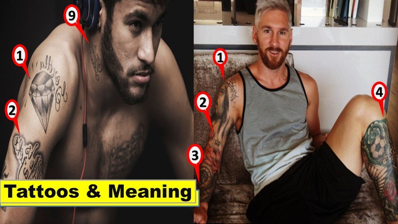 Messi vs Neymar Tattoos u0026 their Meaning 2018| Messi u0026 Neymar Tattoos meaning