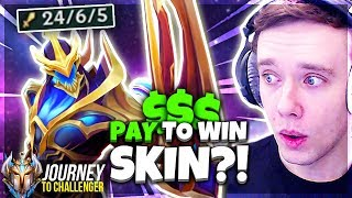THIS NEW ZED SKIN IS BROKEN!! PAY 2 WIN - Journey To Challenger | LoL