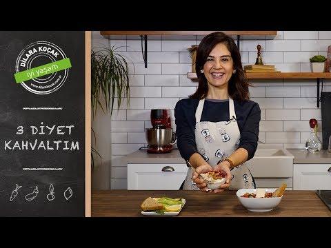 3 Diyet Kahvaltım | Dilara Koçak | Afiyetle Diyet