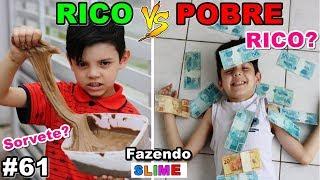 RICO VS POBRE FAZENDO AMOEBA / SLIME #61