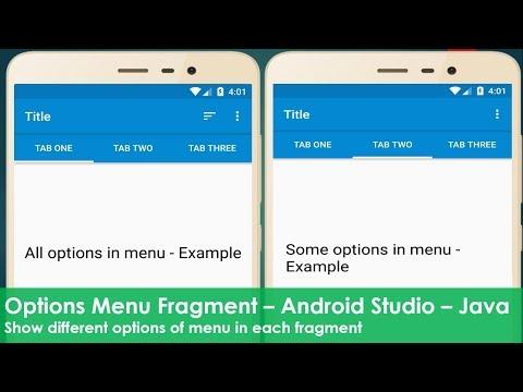 Options Menu Fragment - Java