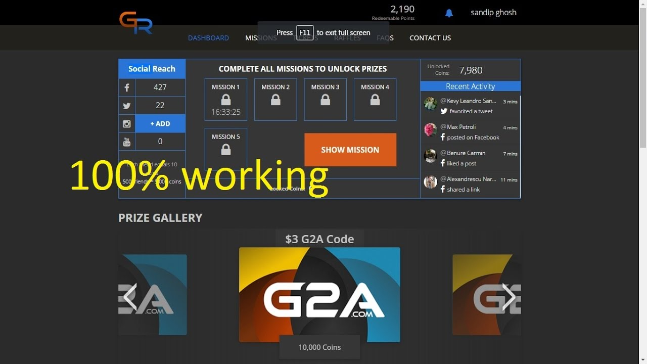 how to gat free g2a gift card suport video - YouTube