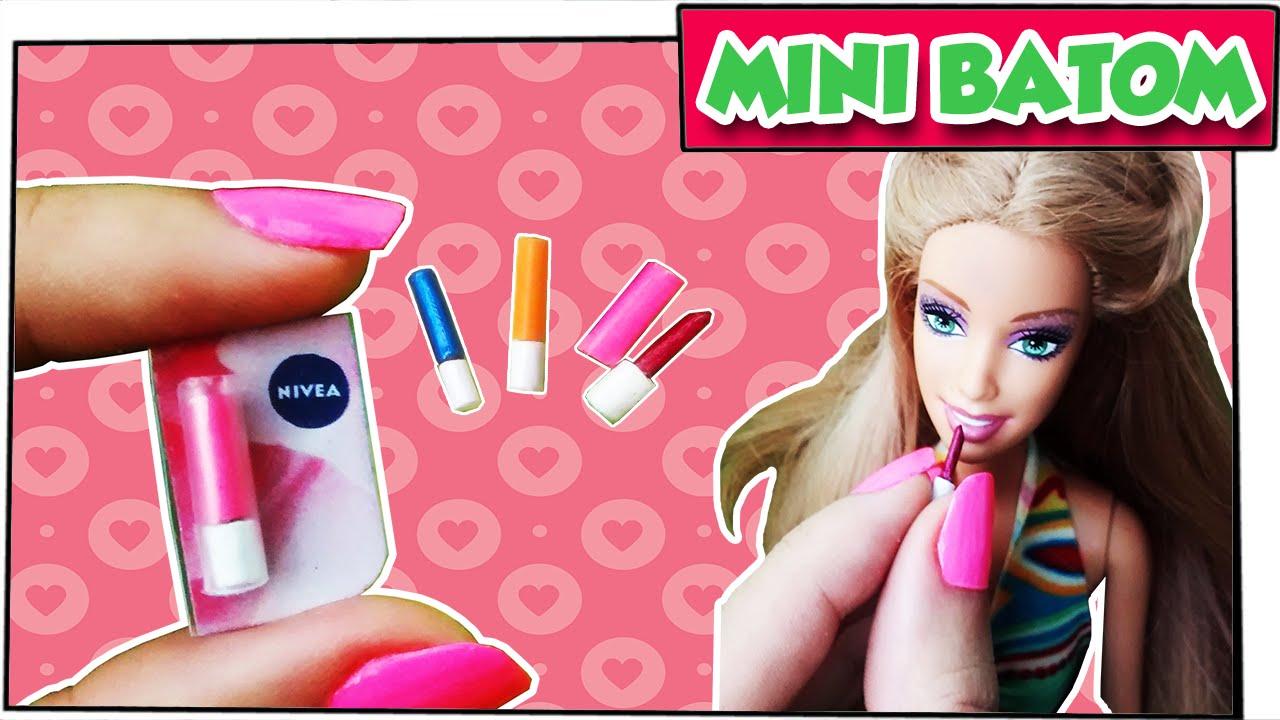 Como Fazer Mini Batom Para Bonecas Barbie Monster High E Outras