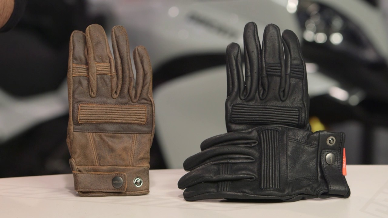 Brown, Medium Cortech Mens Duster Leather Motorcycle Gloves