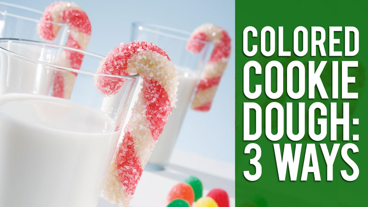 3 ways to color cookie dough for christmas