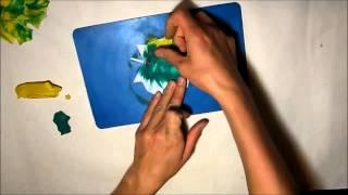 как лепить и КРАСИВО рисовать пластилином ОСЕННИЙ ЛИСТОПАД