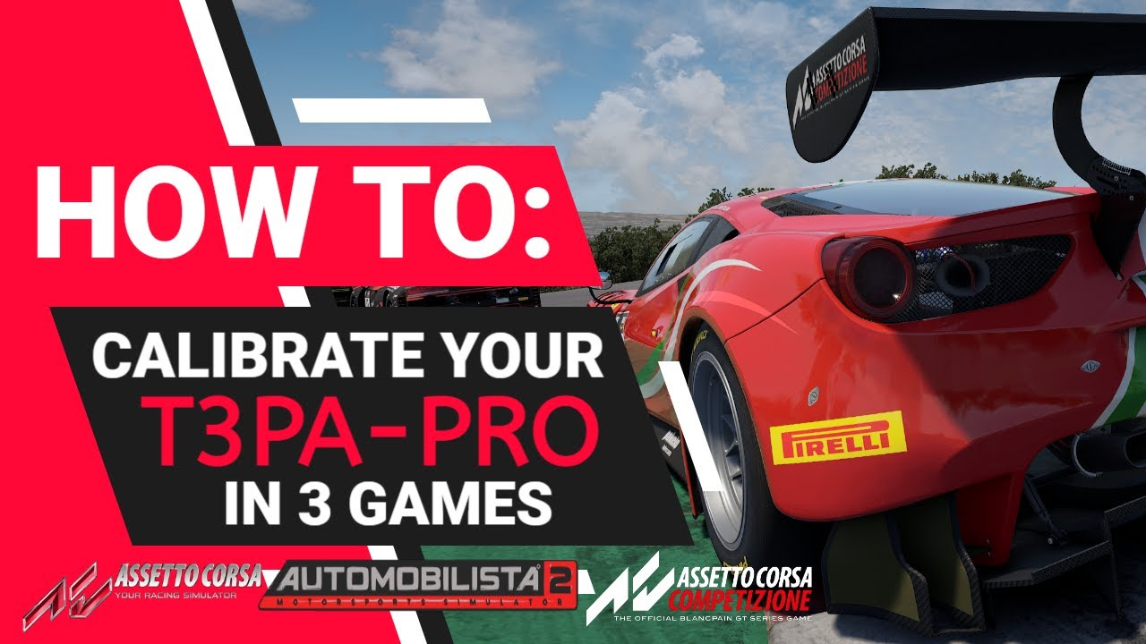 Thrustmaster T3PA PRO How To Calibrate