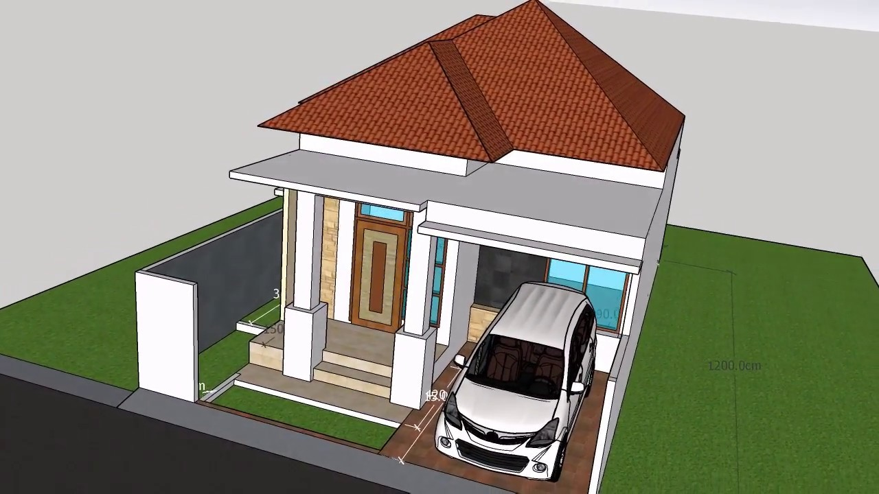 Desain Rumah 7 M X 12 Mtampak Luar Dan Dalam YouTube