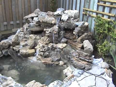 Homemade Waterfall, 90% Complete - YouTube
