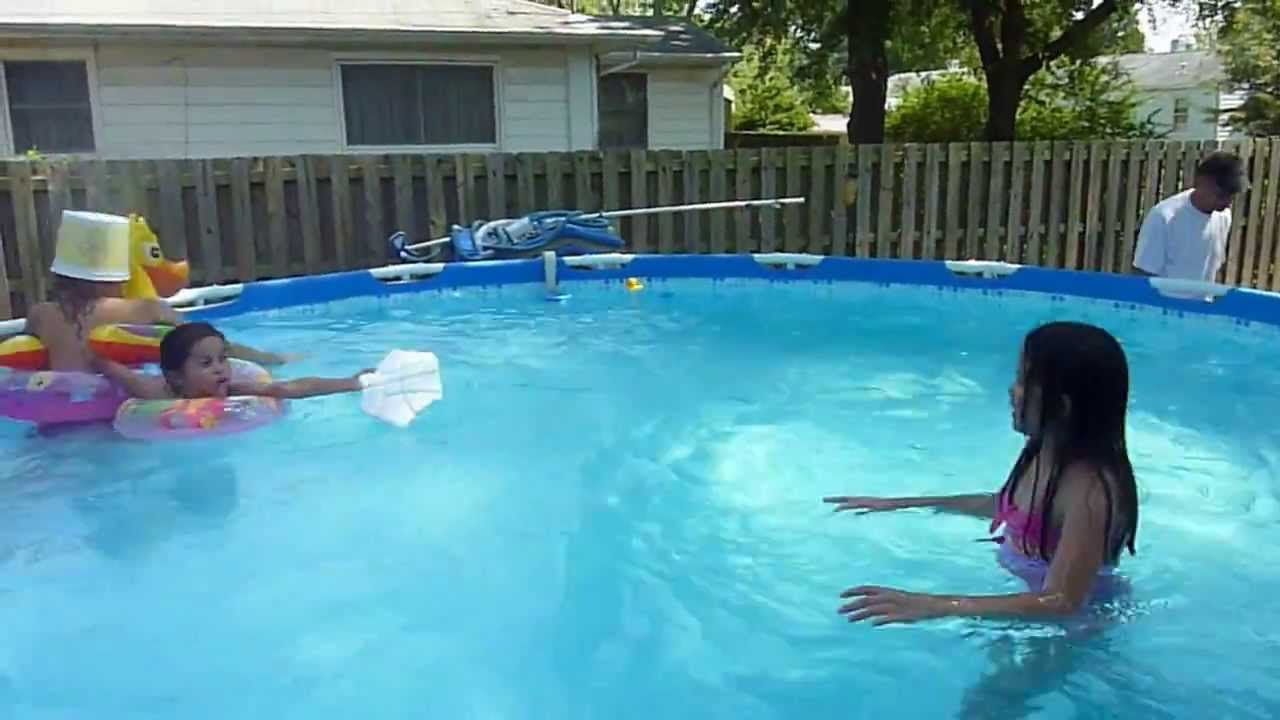 Erlinda 39 S Babies Having Fun Playing Marco Polo Game In Swimming Pool August 2012 Youtube
