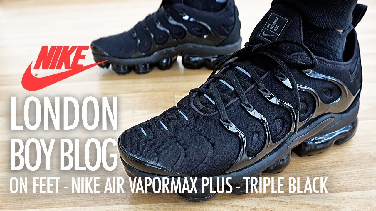 fc964ae7306 On Feet - Nike Air Vapormax Plus Triple Black - YouTube