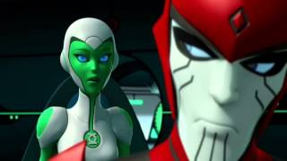 Green Lantern The Animated Series - Season 1: Aya and Razer Moments