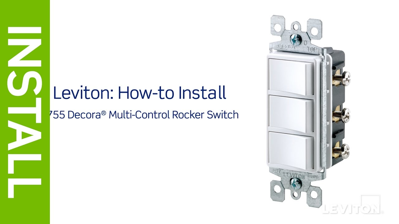 leviton presents how to install a decora combination device with three single pole switches [ 1280 x 720 Pixel ]