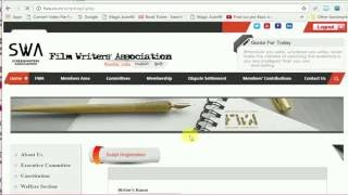 How to Register a Film Script in FWA  || Online Registration || 2016
