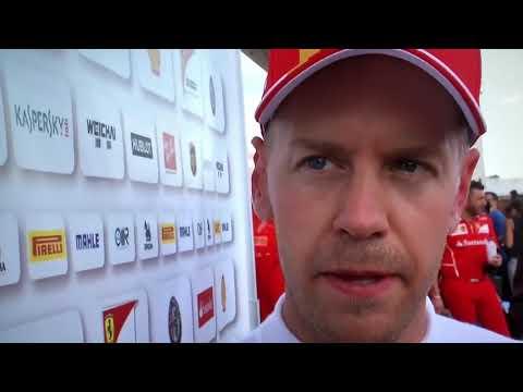 F1 2017 USA GP free practice 2 Sebastian Vettel post reaction