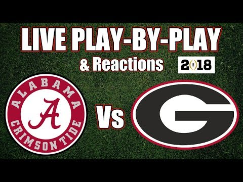 Alabama vs Georgia | Live Play-By-Play & Reactions
