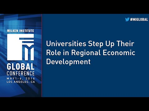 Universities Step Up Their Role in Regional Economic Development