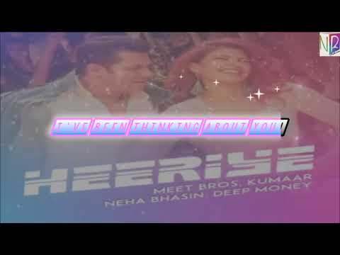 Download Heeriye Song with Lyrics - Race 3 | Salman Khan & Jacqueline | Meet Bros ft. Deep Money, Neha Bhasin