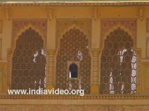Decorative works of Amber fort at Jaipur