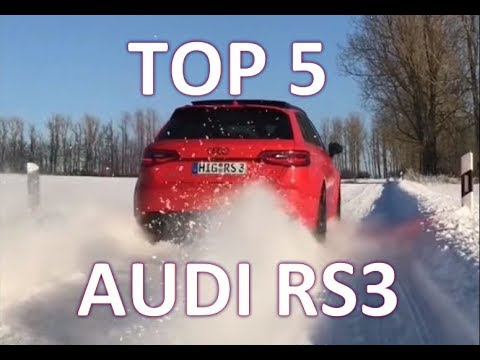 TOP 5 Audi Quattro Power - Audi RS3 Start and Sound in the Snow/Ice/Wet  😍❄️👌