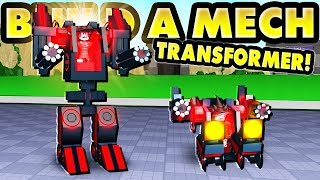 WORKING TRANSFORMERS! (ROBLOX Build a Mech!)