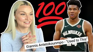 """New Zealand Girl reacts to GIANNIS ANTETOKOUNMPO!!! """"Used to This"""" 🏀"""
